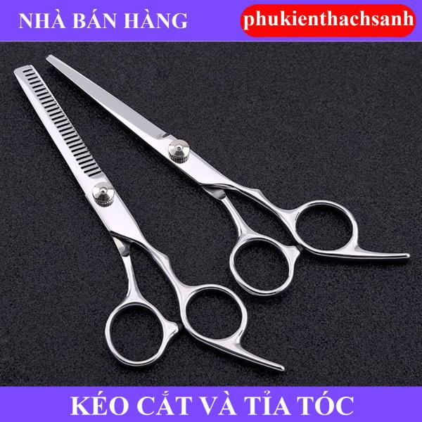 Bộ combo 2 kéo cắt và tỉa tóc phukienthachsanh giá rẻ