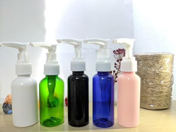 4 Chai chiết mỹ phẩm dạng vòi 100ml - 4 Chai nhựa pet vòi sữa tắm - 4 Chai nhựa vòi nhấn