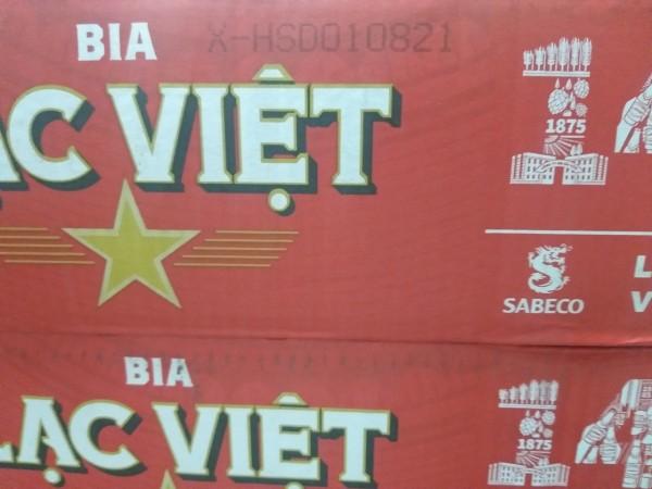Thùng 24 lon bia Lạc Việt 330ml