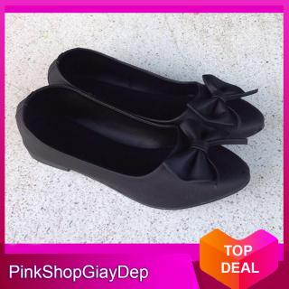 (Có mã miễn ship) Giày giày búp nữ PinkShopGiayDep phối nơ bướm xinh xắn - 234 thumbnail