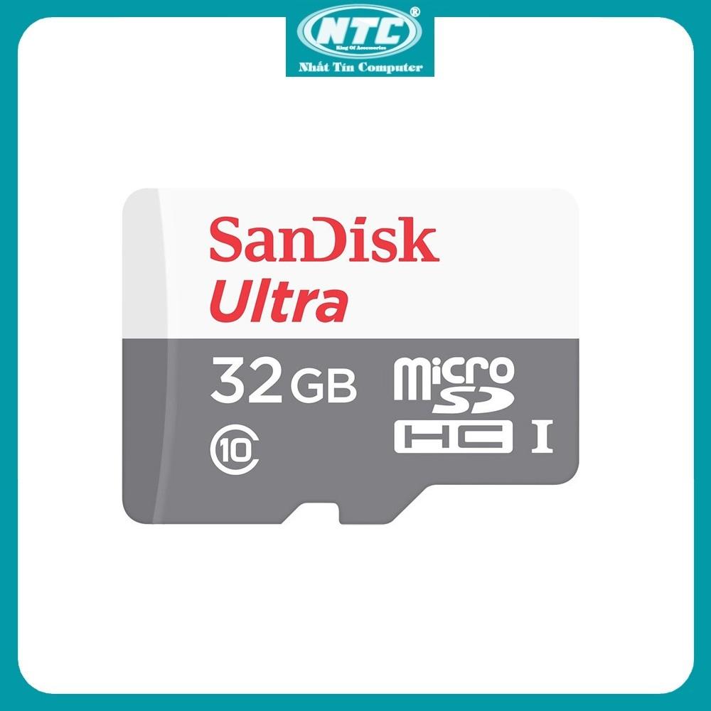 [HCM]Thẻ nhớ MicroSDXC SanDisk Ultra 32GB / 64GB / 128GB 100MB/s (Xám) - Nhất Tín Computer