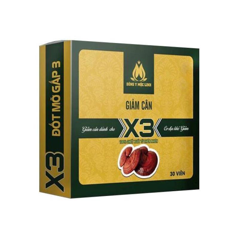 Giảm cân Đông Y Mộc Linh X3 - Tặng kèm 20v detox ban đêm và Tặng kèm mặt nạ dưỡng da cao cấp