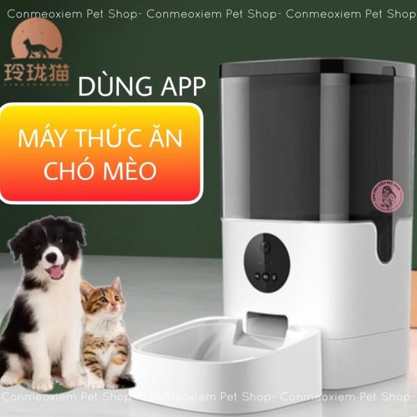 Máy Cho Ăn Tự Động Chó Mèo Tuyasmart 6Lít Dùng App - Máy Nhả Hạt, Thả Hạt Thông Minh Simple Pet Shop