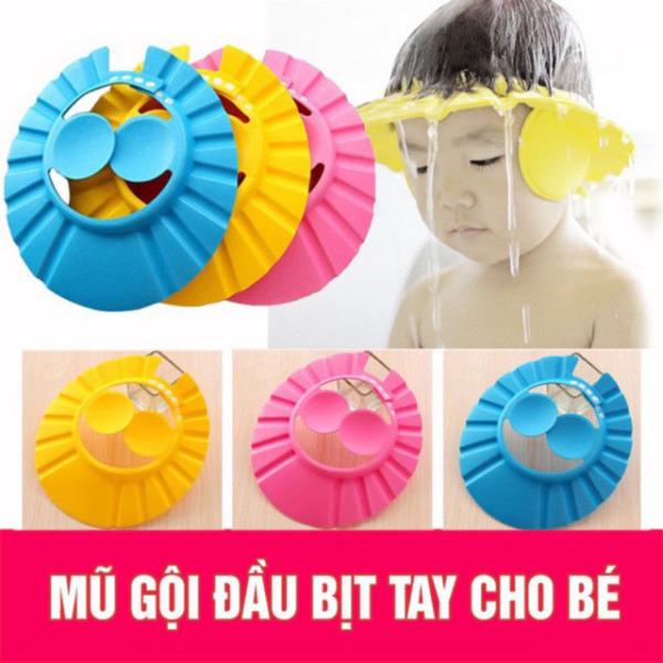 TANOSA Mũ gội đầu chắn nước bảo vệ tai cho bé 0-6 tuổi , có thể điều chỉnh vòng đầu
