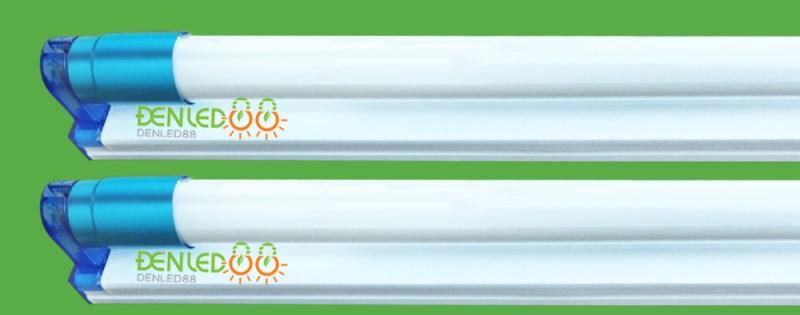 Bộ 2 đèn led Tuýp thủy tinh 22W 1,2m bao gồm bóng và máng đèn