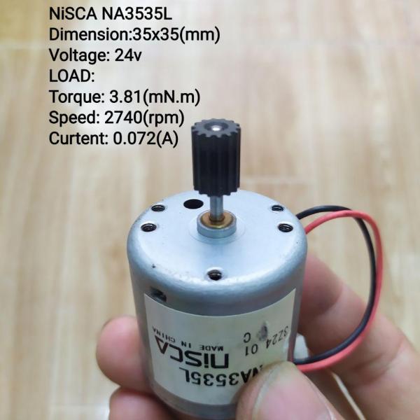 DC Motor NiSCA NA3535L mạnh và tiết kiệm điện