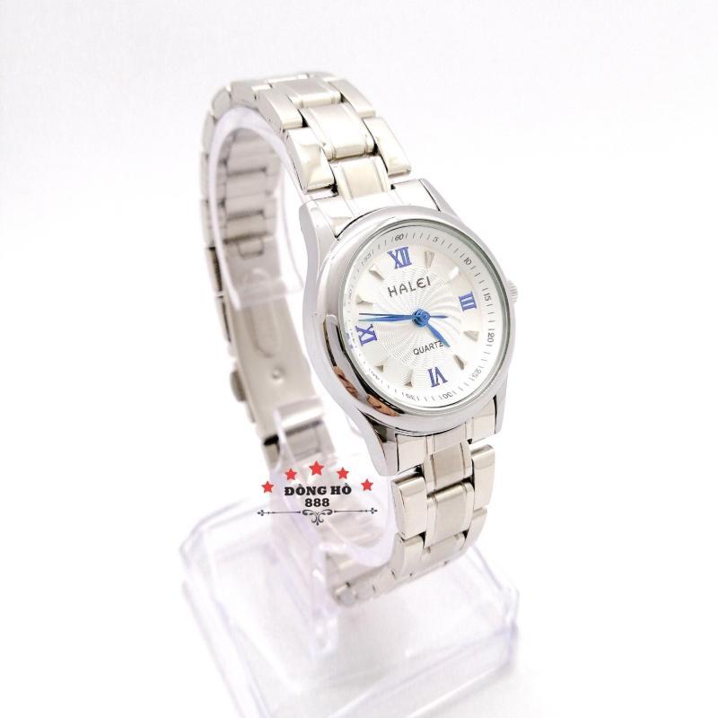 Đồng hồ nữ HALEI dây kim loại thời thượng - TẶNG 1 vòng tỳ hưu phong thuỷ