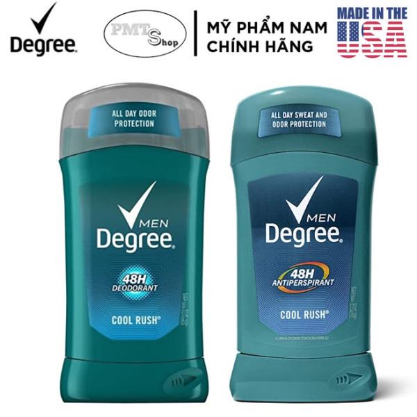 [USA] 1 chai Lăn sáp khử mùi nam Degree Men Cool Rush Deodorant 85g | Antiperspirant 76g - Mỹ