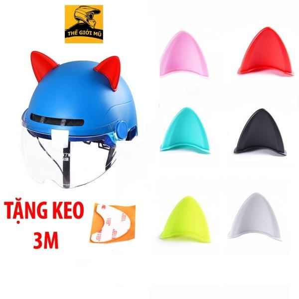 Tai mèo gắn mũ bảo hiểm siêu xinh nhiều màu độc lạ, Thế Giới Mũ