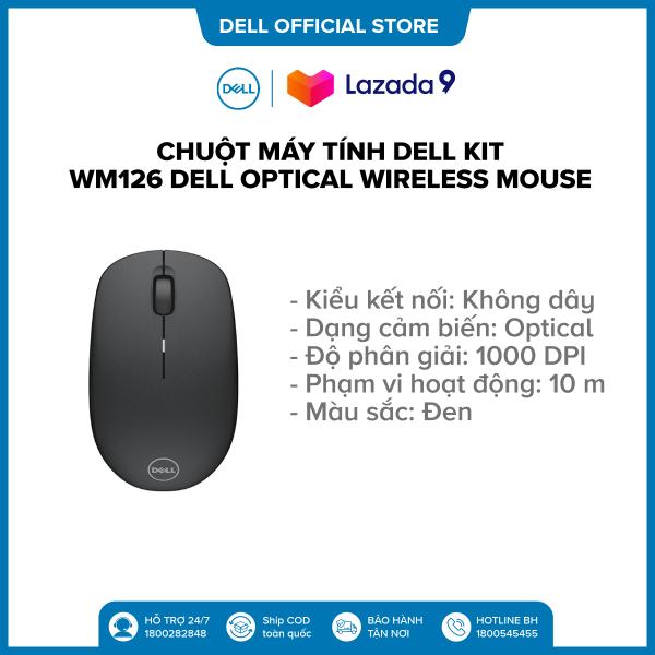 Bảng giá Chuột máy tính Dell Kit - WM126 Dell Optical Wireless Mouse - Black - S&P Phong Vũ