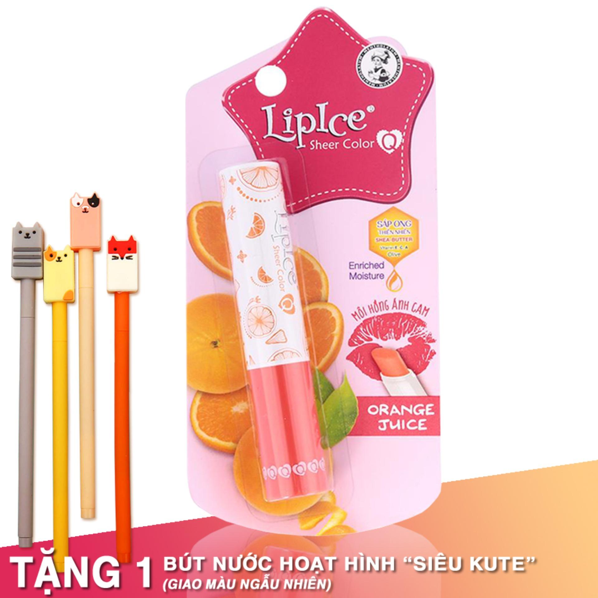 Son dưỡng có màu Lipice Sheer Color Q Orange Juice 2.4G (Hồng Ánh Cam) cao cấp