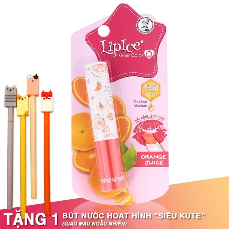 Son dưỡng có màu Lipice Sheer Color Q Orange Juice 2.4G (Hồng Ánh Cam) giá rẻ