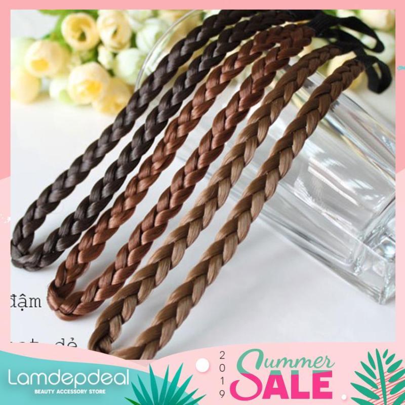 [COMBO GIẢM 12K + MÃ GG] Băng đô bím tóc mềm mại - nhiều màu sắc giúp bạn gái tha hồ làm điệu - Lamdepdeal nhập khẩu