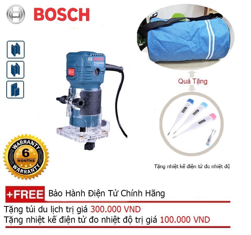 Máy phay nhỏ Bosch GKF 550 + Quà tặng balo du lịch