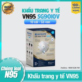 Khẩu Trang Y Tế VN95 Lọc Khuẩn Có Van SG9010V Chính Hãng - Dùng Trong Công Nghiệp, Phòng Dịch, Y Tế - Chứng Nhận ISO 9001, ISO 13485 - Hộp 10 Chiếc thumbnail