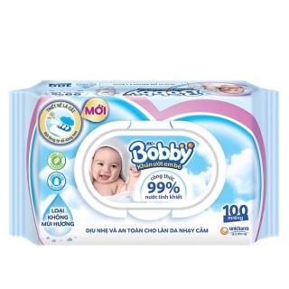 Khăn Ướt Bobby Care 100 Tờ ( không mùi ) thumbnail