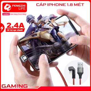 Dây sạc iPhone chơi game dây cáp sạc điện thoại đầu chữ U chất liệu dù dòng điện 2.4A đầu chống gãy dài 1 mét chính hãng FENGZHI LIFE X130 dành cho iPhone Samsung OPPO Vivo HUAWEI XIAOMi cáp sạc thumbnail