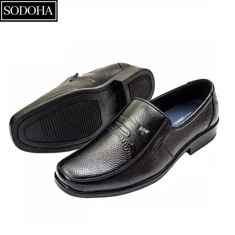 Giày Tây Da Bò Cao Cấp SODOHA SDH9339B Màu Đen Có Giá Tốt