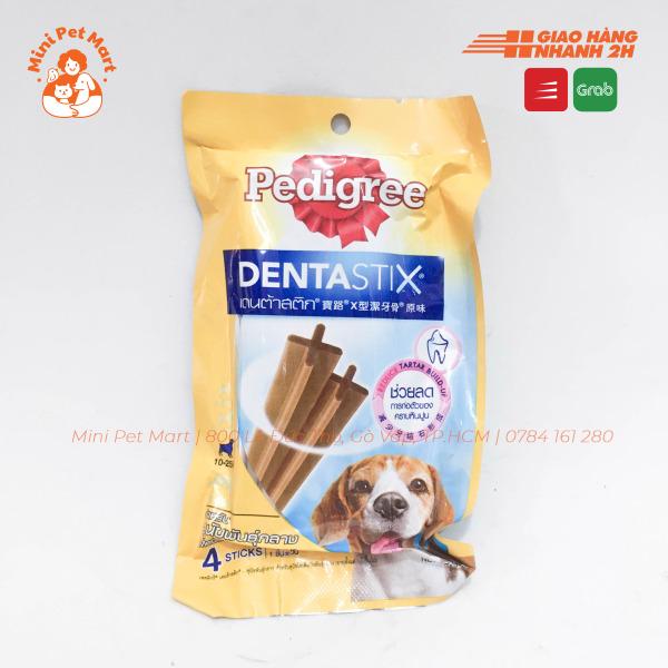 Bánh xương chăm sóc răng PEDIGREE DentaStix cho chó lớn 10-25kg - gói 4 que