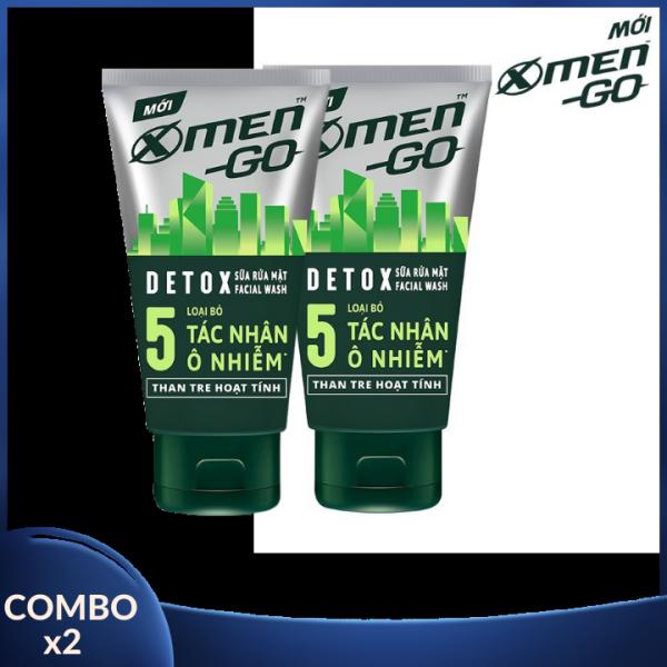 [COMBO 2 ] Sữa rửa mặt X-men Go Than tre Hoạt tính 100gr - Sữa rửa mặt X-Men Go REFRESH 3 Loại Bạc Hà 100G