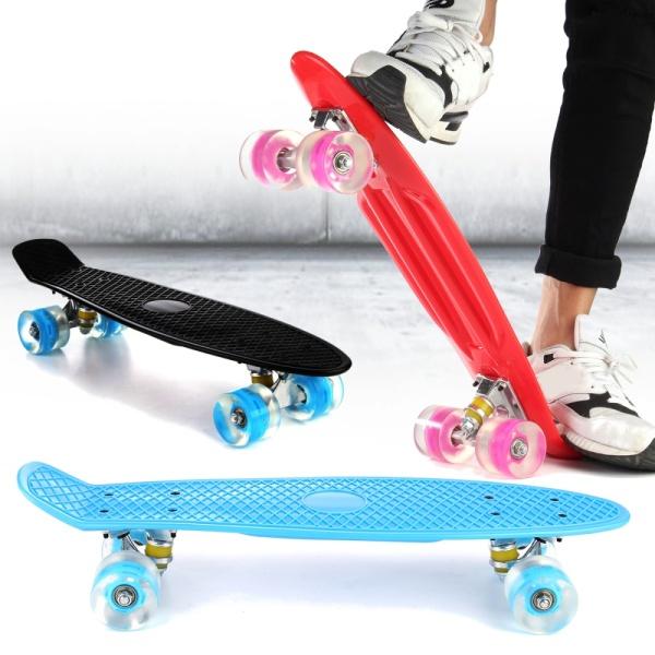 Giá bán ( CÓ ĐÈN LED ) 60 CM 4 bánh xe Ván Trượt Skateboard Cho Trẻ Em Người Lớn   hàng chính hãng THIẾT KẾ HIỆN ĐẠI - CAO CẤP - chịu tải lớn ( sản phẩm hót nhất đầu năm 2020) - bảo hành 1 đổi 1 toàn quốc