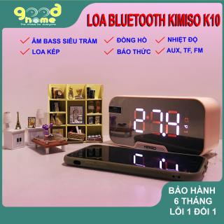 [HÀNG CHÍNH HÃNG] Loa bluetooth không dây KIMISO K10 GOOD HOME Đa chức năng Đồng hồ báo thức Âm thanh siêu Bass Đàm thoại Hiển thị nhiệt độ thumbnail