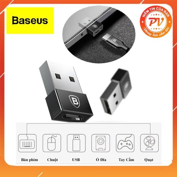 Bảng giá Đầu chuyển OTG từ USB Type A sang USB Type C tốc độ cao Baseus, Thiết kế nhỏ gọn, dễ dàng mang theo, Chất liệu kim loại siêu bền, Chia sẻ và đồng bộ dữ liệu tốc độ cao, hỗ trợ dòng điện lên đến 2,4A tốc độ sạc nhanh hơn