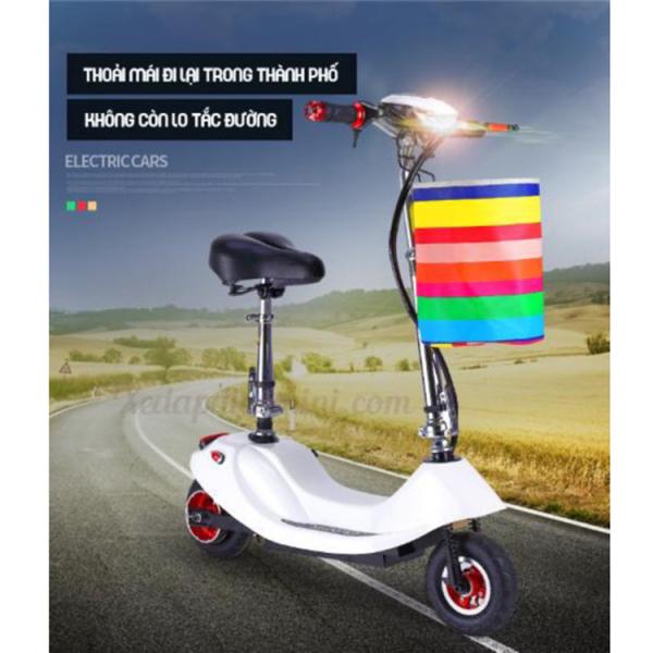 Giá bán Xe đạp điện mini E-Scooter 2020 - Có giảm sóc -  đi được 30 km cho một lần sạc