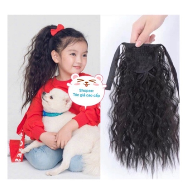Tóc giả đẹp - Tóc cột xù ngắn dành cho bé gái