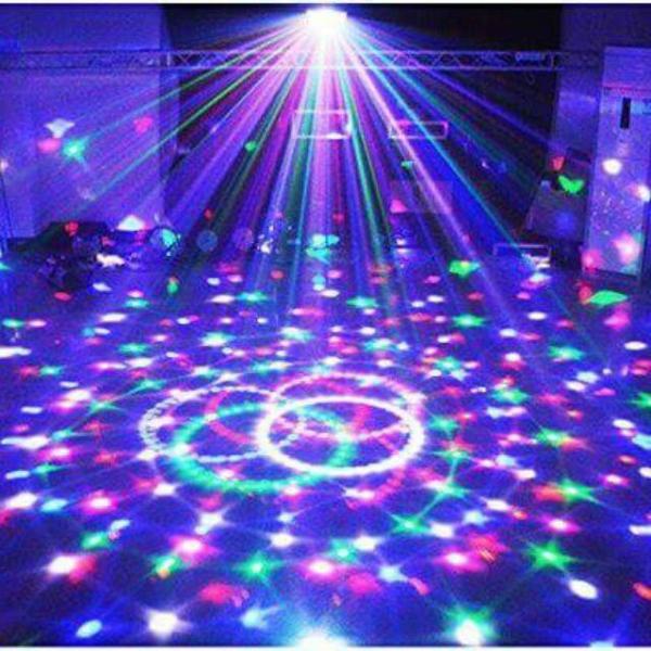 Đèn Led Trang Trí Phòng - Đèn Led Pha Lê Sân Khấu Xoay Nhấp Nháy Có Cảm Biến Nhạc