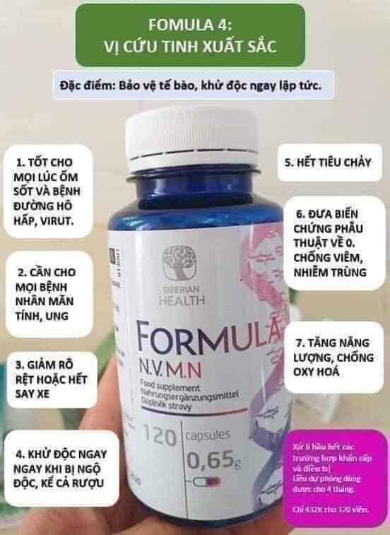 Novomin Formula 4 phục hồi tế bào cao cấp