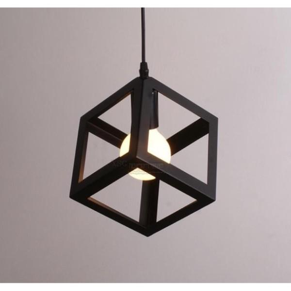 Đèn thả: Mẫu đèn trang trí hình khối lập phương đẹp