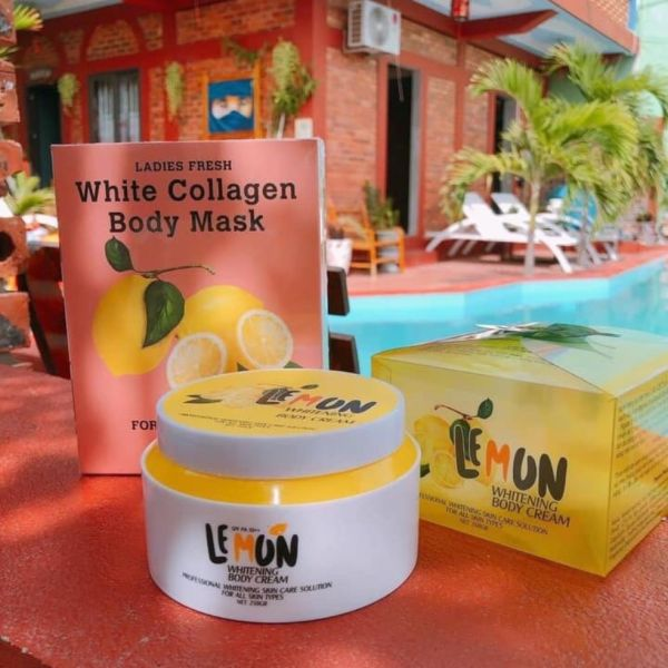 Combo kem Body Lemon và 3 Ủ trắng chanh nhập khẩu