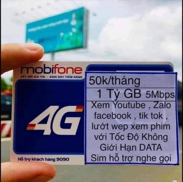Bảng giá SIM MOBI 50K/THÁNG KHÔNG GIỚI HẠN DUNG LƯỢNG Phong Vũ