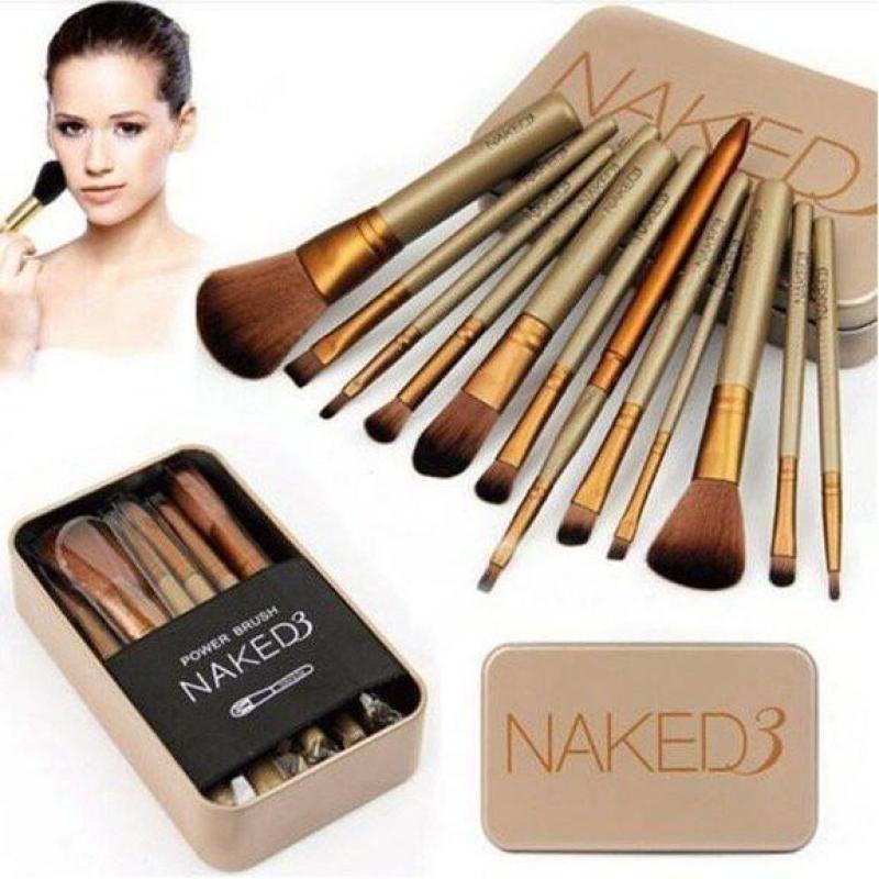 Bộ Cọ Trang Điểm Naked3 Đủ 12 Món Cao Cấp nhập khẩu
