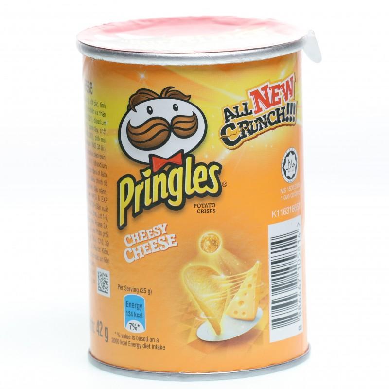 Snack khoai tây Pringles vị Cheesy Cheese hũ 42g
