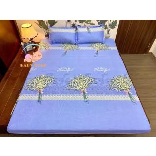 (Giá Sỉ) Ga bọc nệm, drap bo chun kích thước m6 m8 mẫu Hoa Baby siêu đẹp chất Poly - Ga giường bọc bảo vệ đệm, kèm 2 vỏ gối thumbnail
