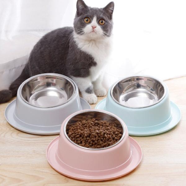 Bát ăn inox nghiêng chống kiến cho chó mèo