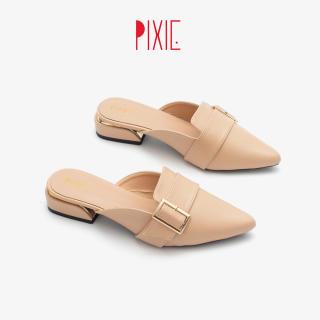 Giày Sục Bệt Mũi Nhọn Gắn Khóa Pixie P170