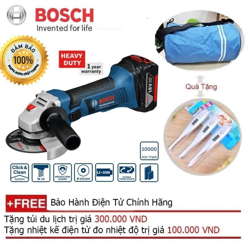 Máy mài góc dùng pin Bosch GWS 18V-LI (Solo) + Quà tặng balo du lịch