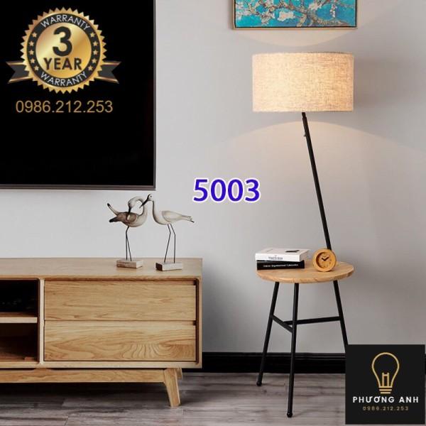 Bảng giá Đèn cây đứng kèm bàn gỗ trang trí nội thất phòng khách phòng ngủ phòng đọc sách mã 5003 - Đèn Phương Anh