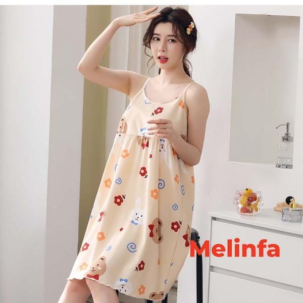 Nơi bán Váy ngủ hai dây nữ phong cách dễ thương chất lụa lạnh nhiều màu mã VAV0153