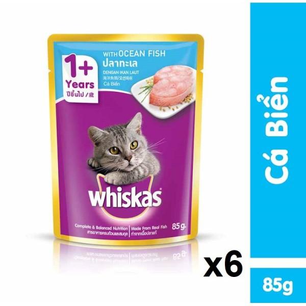 Combo 3 gói Pate Whiskas 85g Dành cho mèo lớn 5 vị cá