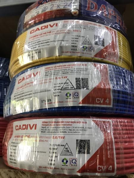 CÂY ĐIỆN CADIVI CV 4.0 - DÂY NGUỒN CADIVI 4.0 ĐƠN - 100 mét/ 1 cuộn