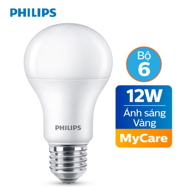 Bộ 6 Bóng đèn Philips LED MyCare 12W 3000K E27 A60 - Ánh sáng vàng