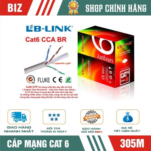 Bảng giá Cuộn dây cáp mạng Cat6 Lb-Link Utp Cca Br 305M chất lượng đảm bảo an toàn đến sức khỏe người sử dụng cam kết hàng đúng mô tả Phong Vũ