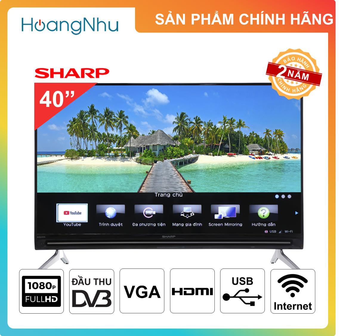 Bảng giá Smart Tivi Sharp 40 inch Full HD tích hợp đầu thu KTS model LC-40SA5500X / 2T-C40AE1X - Bảo hành 2 năm