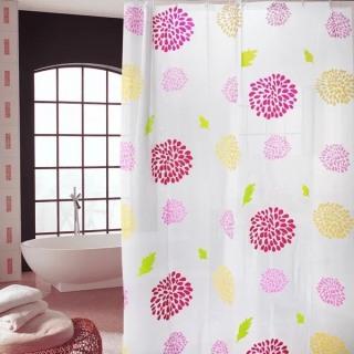 Rèm phòng tắm kèm móc treo 180cm x 180cm - HOA MẶT TRỜI thumbnail