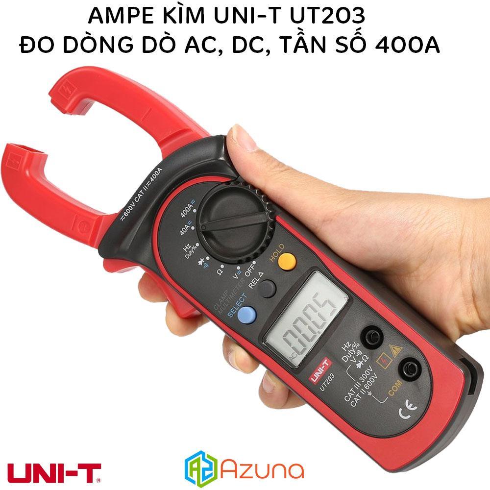 Ampe kìm UNI-T UT203 đo dòng AC, DC Tần số 400A