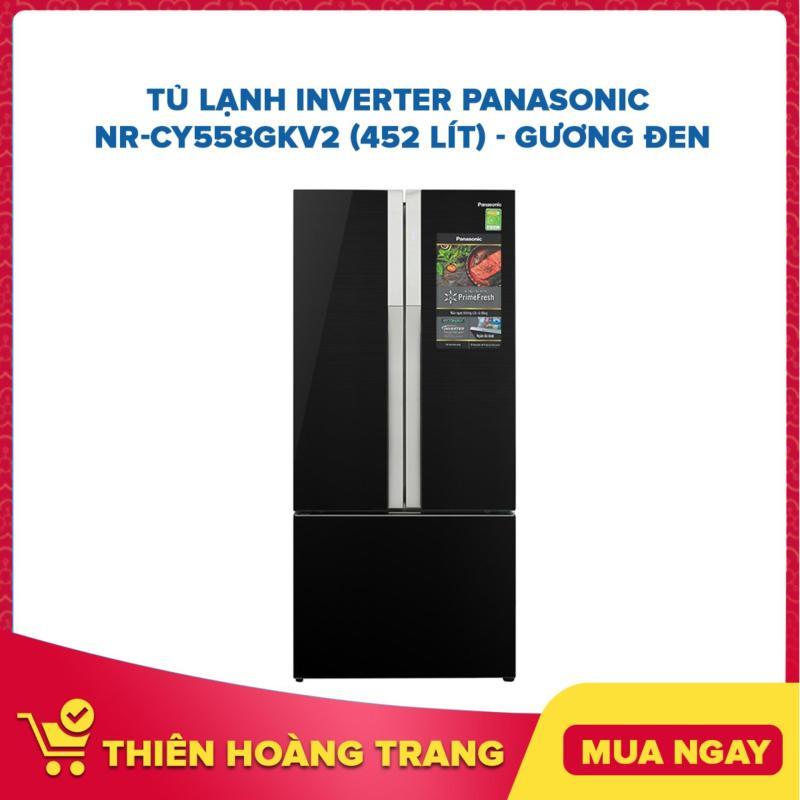 Tủ Lạnh Inverter Panasonic NR-CY558GKV2 (452 lít) - Gương Đen